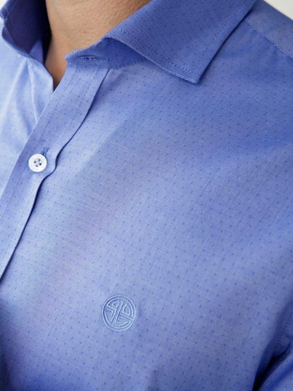 camisa para hombre azul