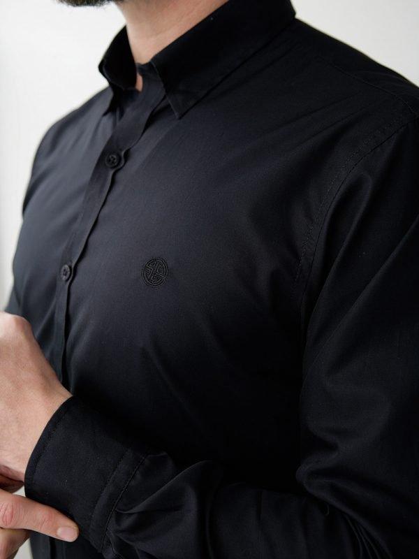 camisa para hombre negra